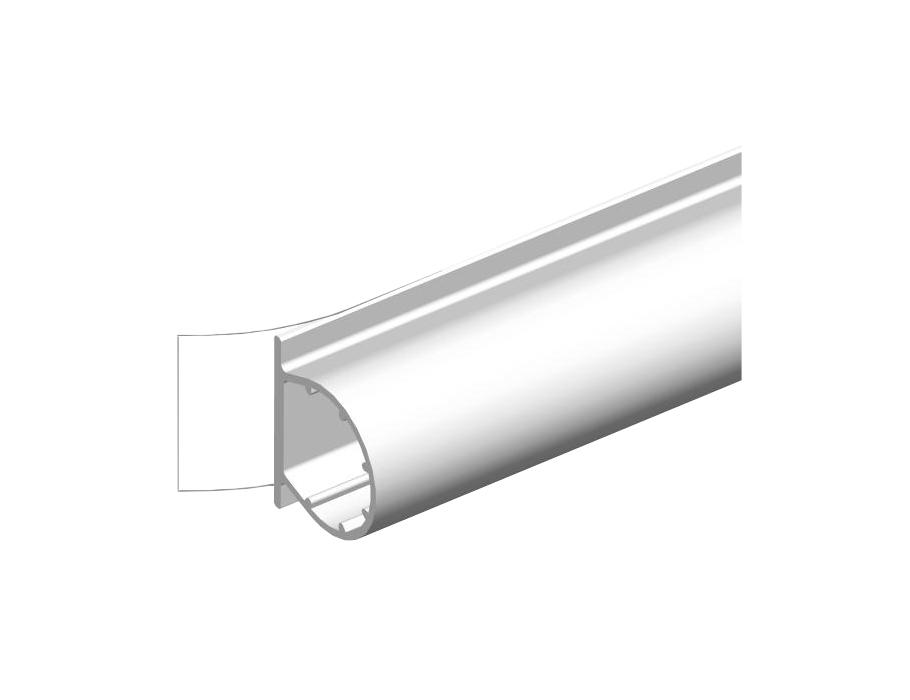 Türriegel universal - weiß - 9x7mm - 6m