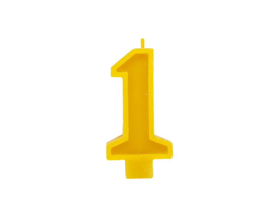 Verjaardagskaars - Cijfer 1
