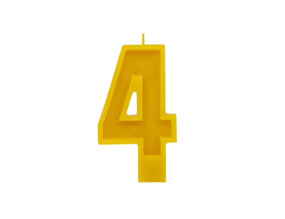 Verjaardagskaars - Cijfer 4