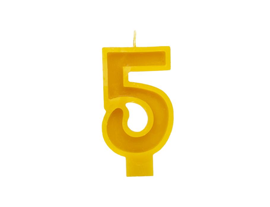 Verjaardagskaars - Cijfer 5
