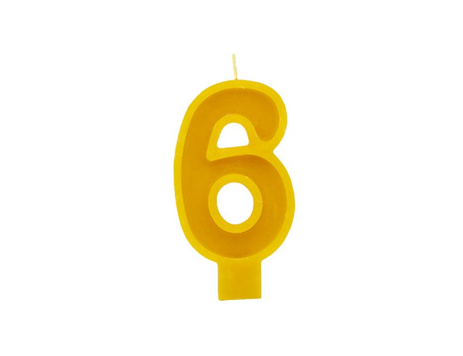 Verjaardagskaars - Cijfer 6