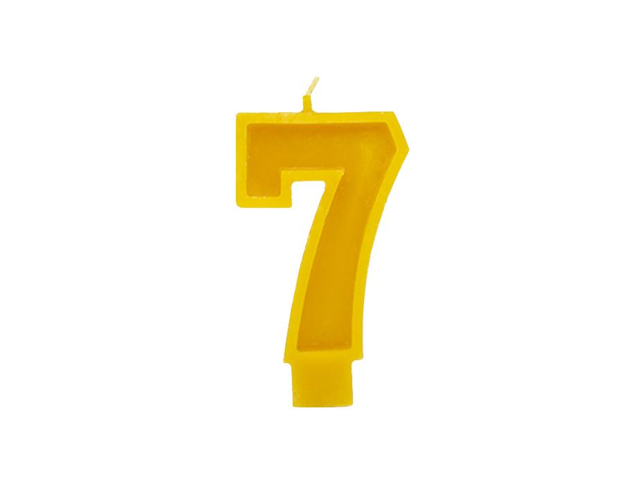 Verjaardagskaars - Cijfer 7