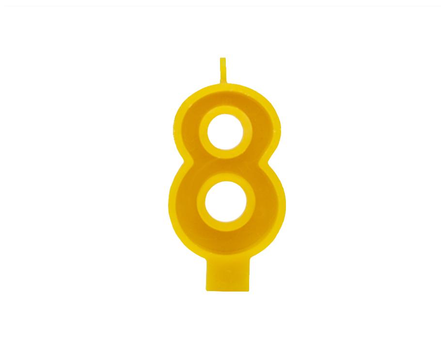 Verjaardagskaars - Cijfer 8