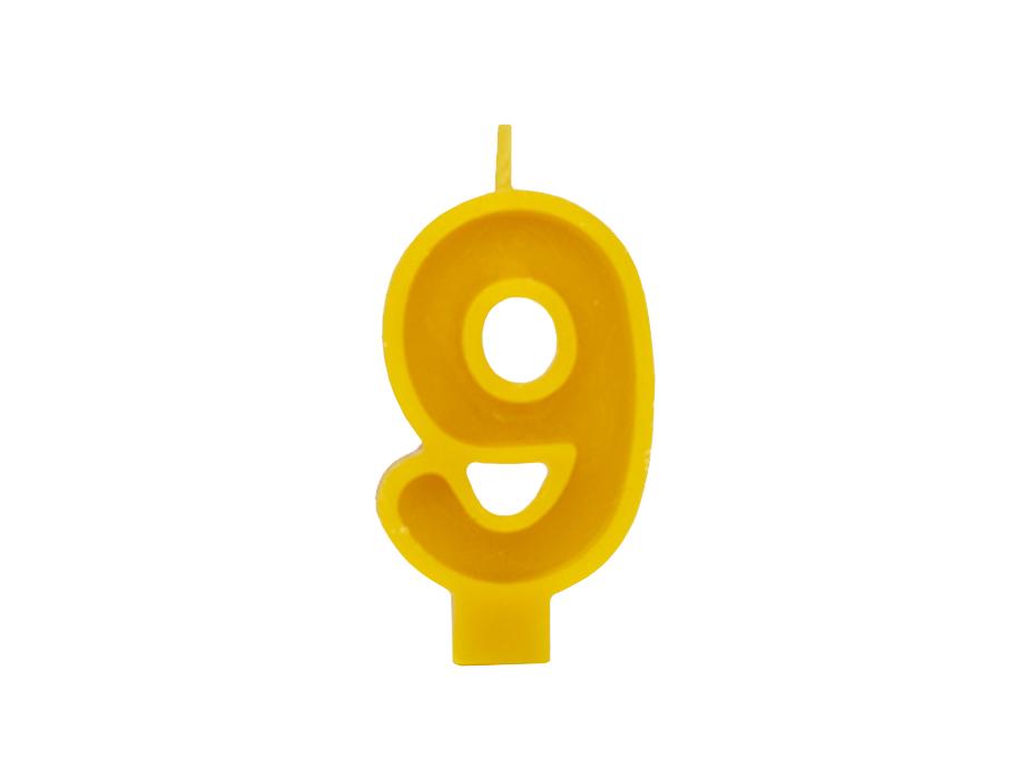 Verjaardagskaars - Cijfer 9
