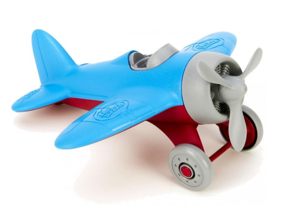 Vliegtuig blauw - gerecycled