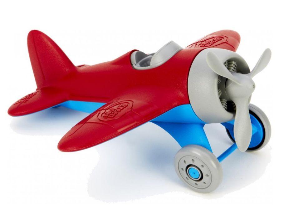 Vliegtuig rood - gerecycled