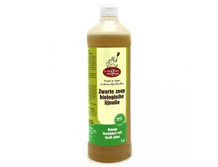Biologische groen/zwarte Zeep - Lijnzaadolie