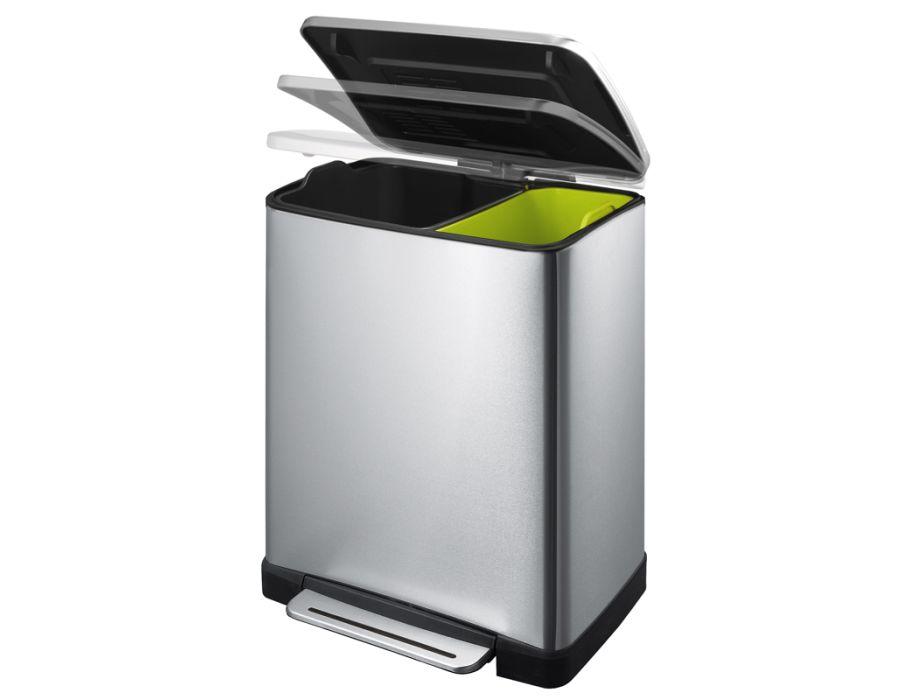 E-Cube Recycling prullenbak - duo 28 + 18 liter