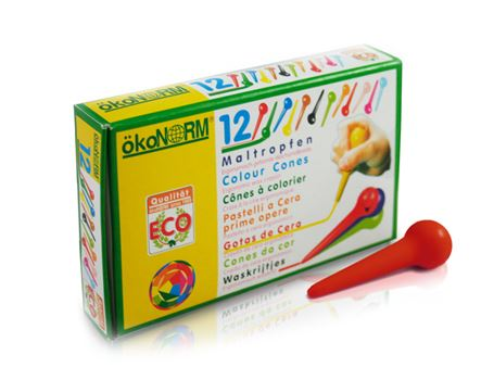 Maltropfen im Pappetui - 12 Farben