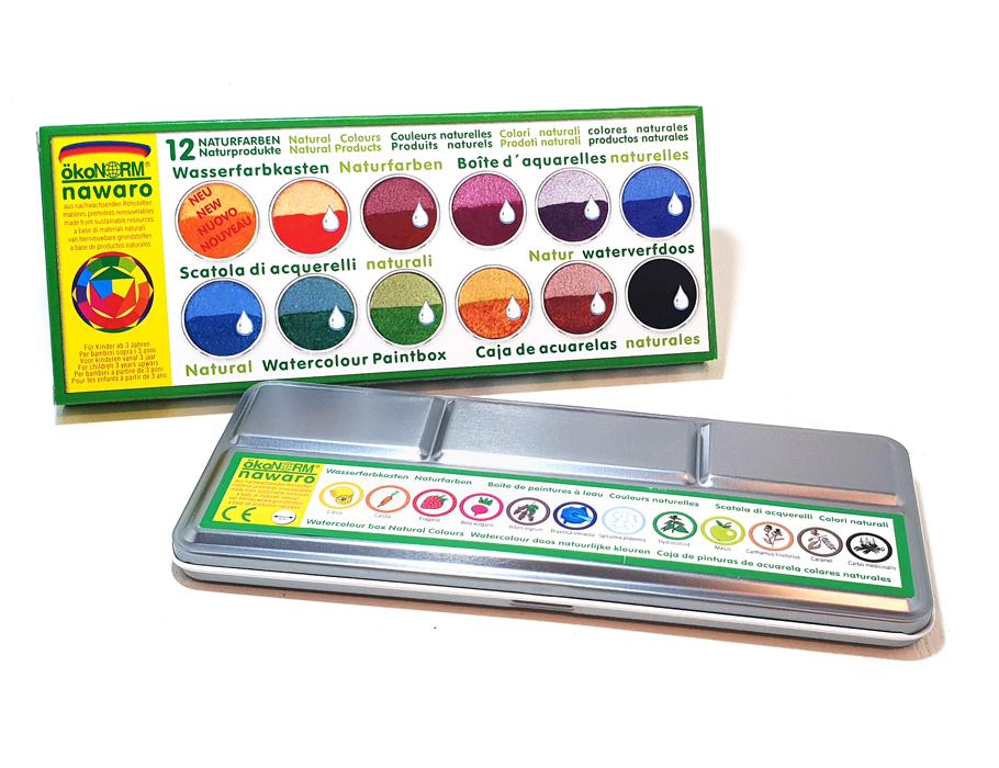 Malkasten Wasserfarb im Blechetui - 12 Farben