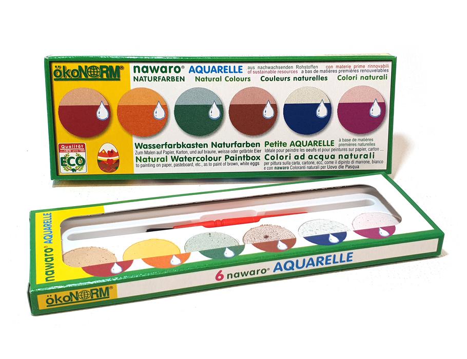 Aquarel verf- 6 kleuren