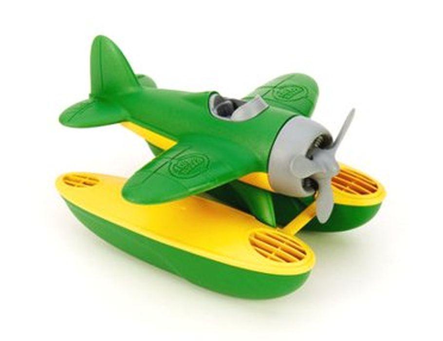 Watervliegtuig groene vleugels - gerecycled