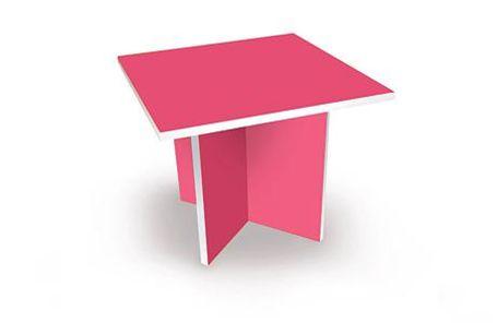 Prikbord voor de keuken - Tafel roze kind ...