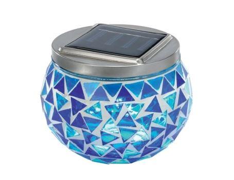 Tafellamp mozaïek Brilllant Blau - op zonne-energie