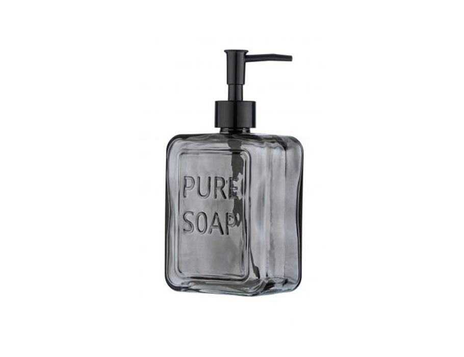 Seifenpumpe - Glas - Grau - 550 ml