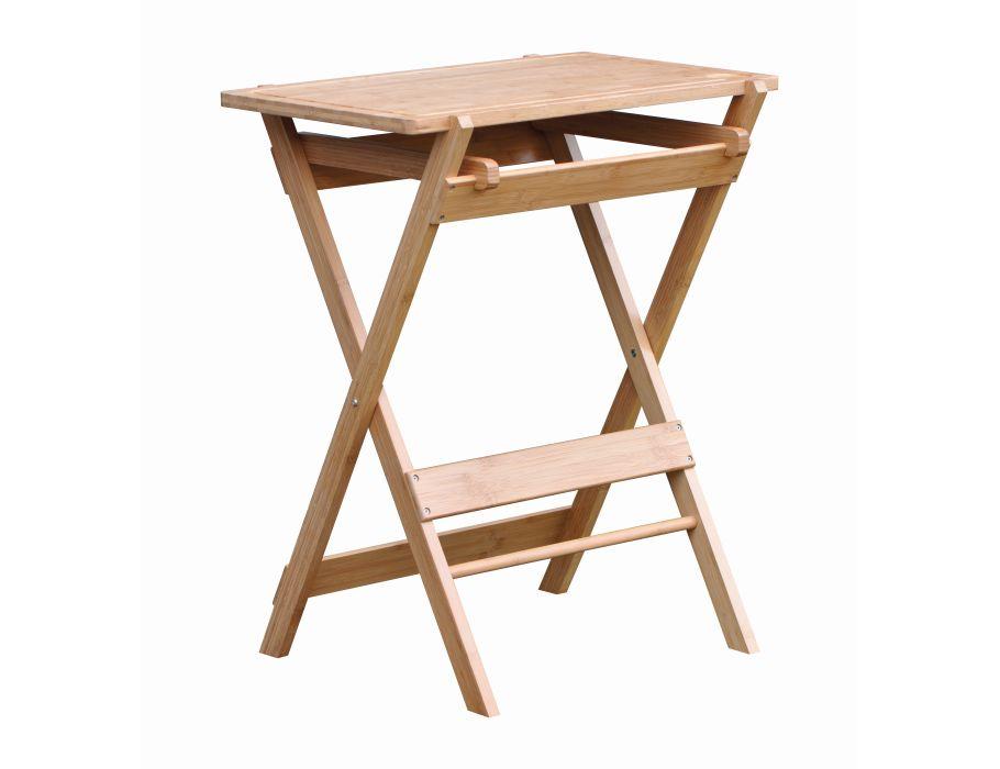 Werktafel Bamboe met afneembare snijplank 66x40x75cm