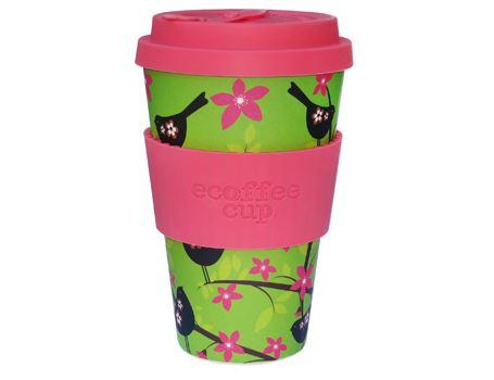 Ecoffee Cup - biologisch afbreekbaar - Widdlebirdy