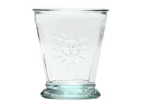 "Trinkgläser ""Sonne"" aus Recyclingglas 0,2 l, 6 Stk."