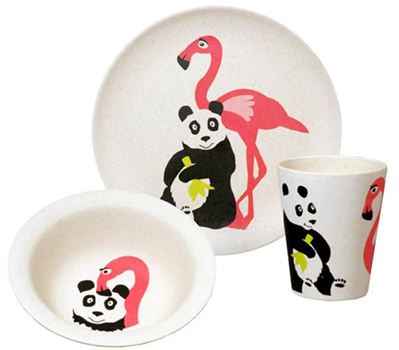 Lunchset Flamingo kinderservies