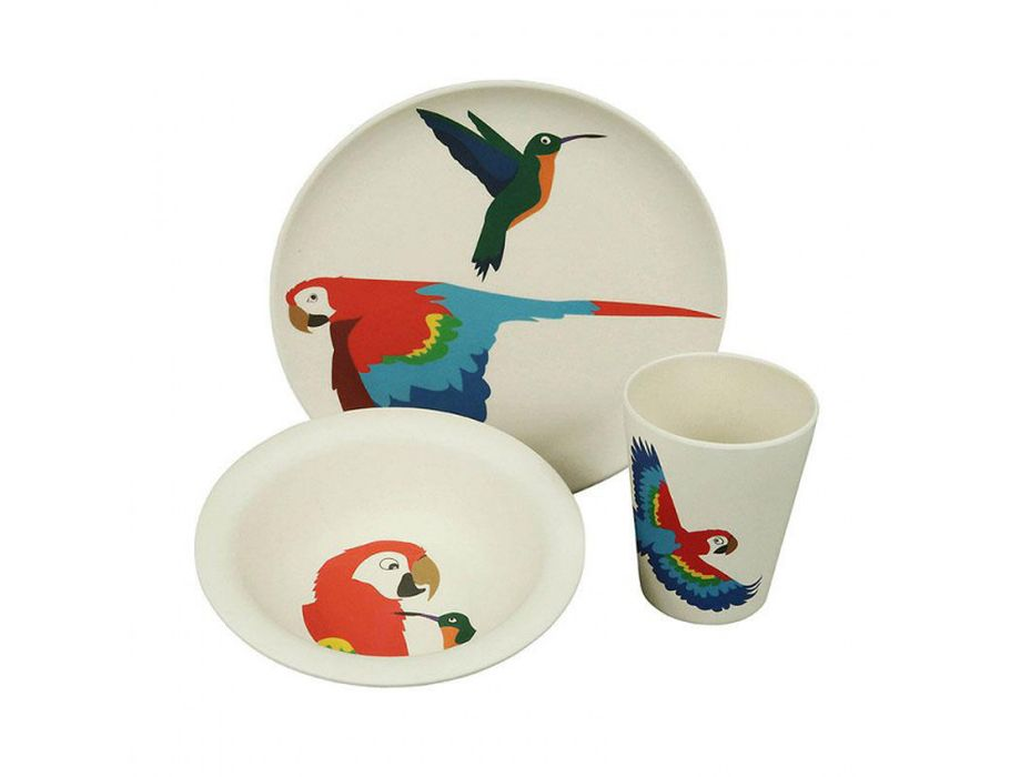 Lunchset Parrot kinderservies