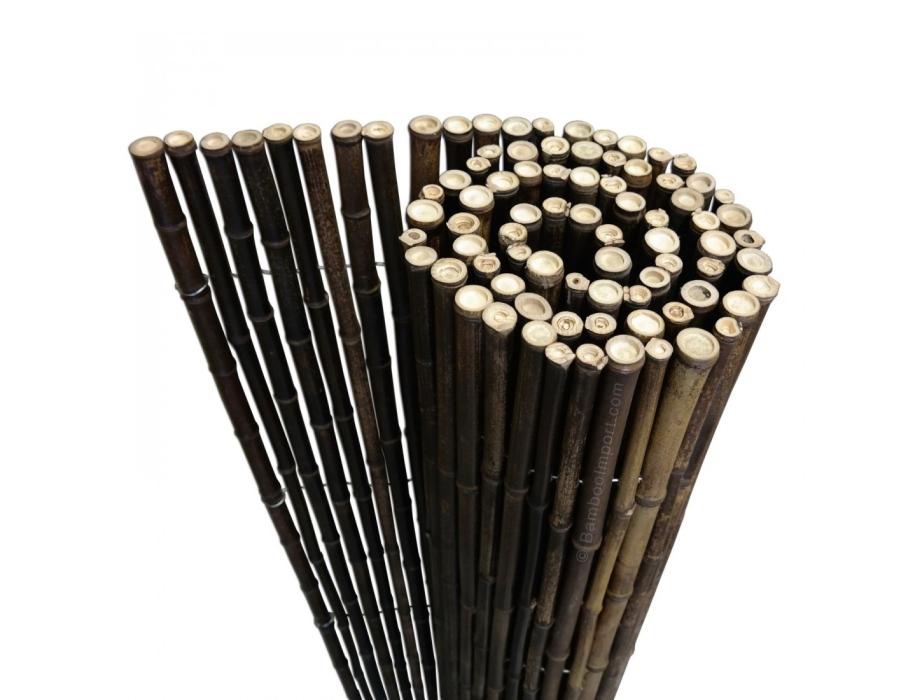 Bamboemat - Zwart - 1,8m