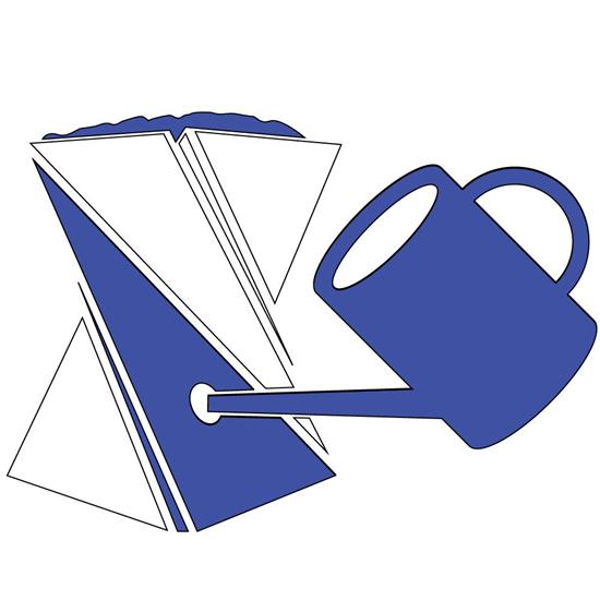 Origami Bloempot blauw   Eco Logisch webshop