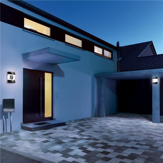 steinel hausnummer beleuchtung eco logisch webshop. Black Bedroom Furniture Sets. Home Design Ideas