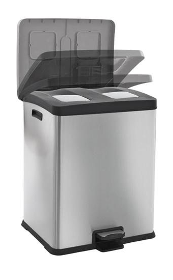 rejoice recycling prullenbak 60 liter duo. Black Bedroom Furniture Sets. Home Design Ideas