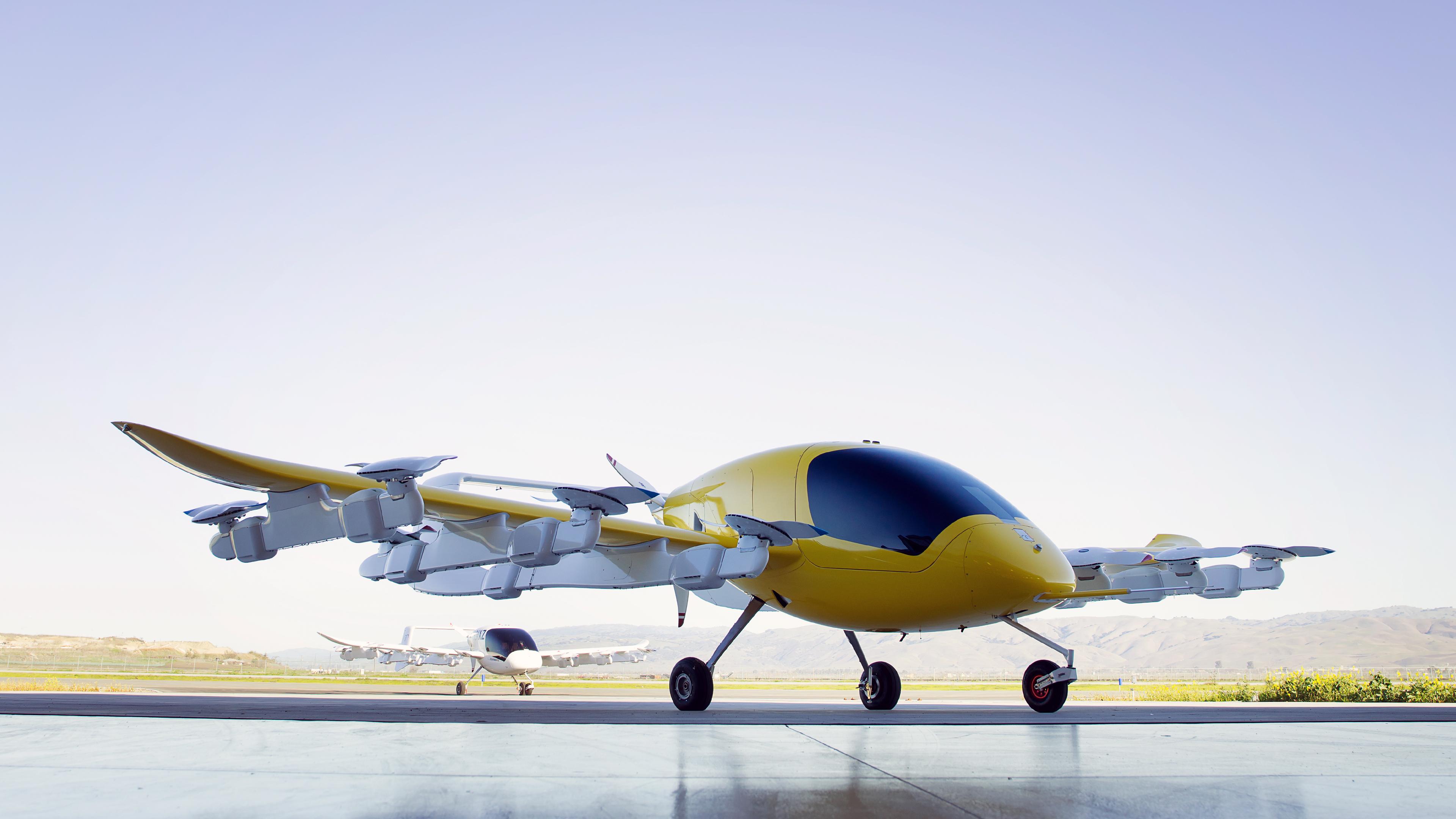 Lucht taxi en natuurlijk elektrisch
