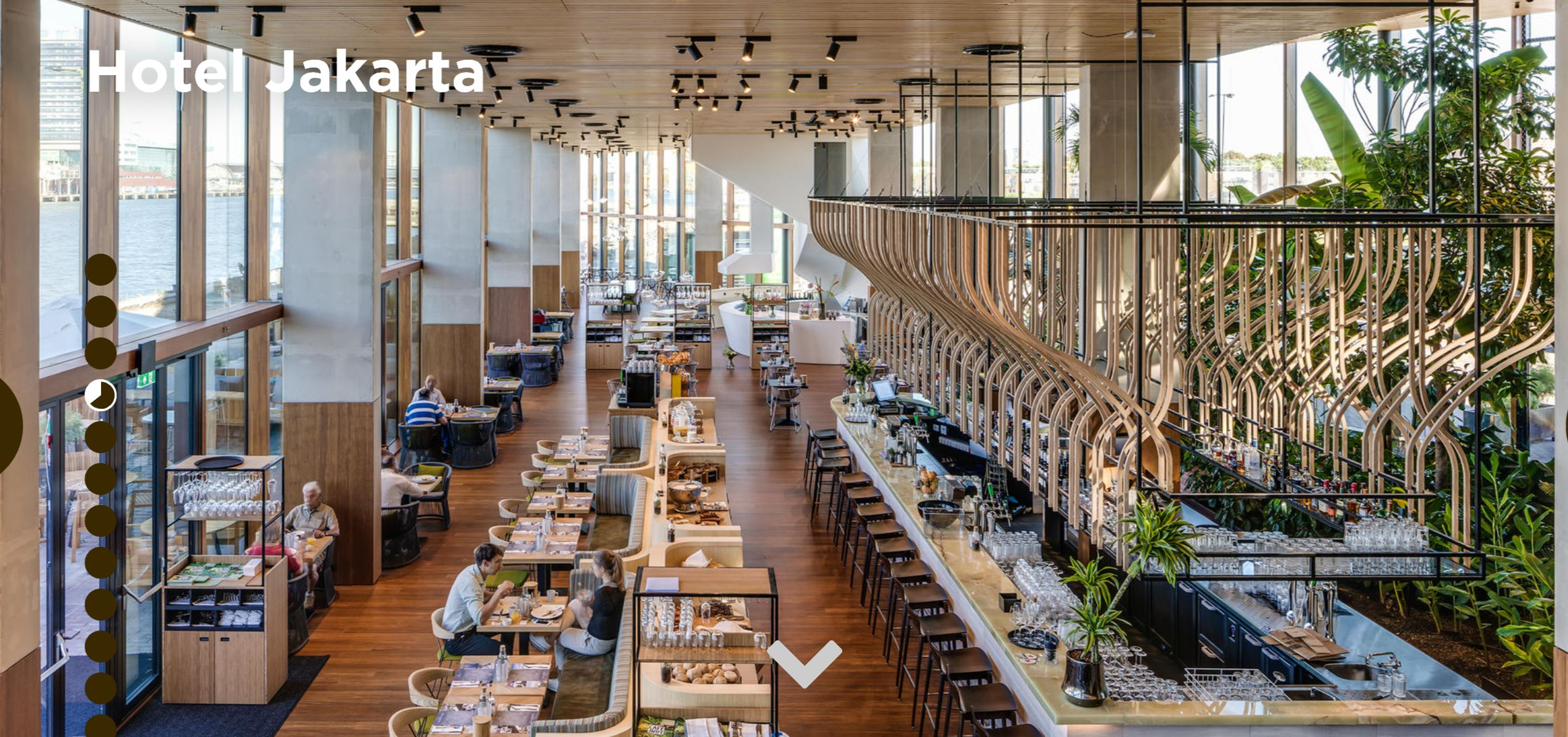 Hotel Jakarta Amsterdam helemaal met Moso Bamboe
