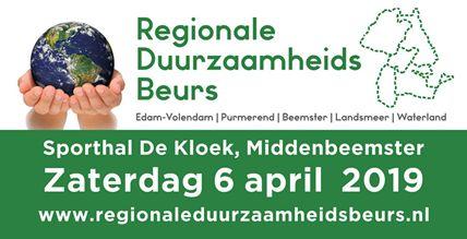 Regionale Duurzaamheidsbeurs 6 April Middenbeemster