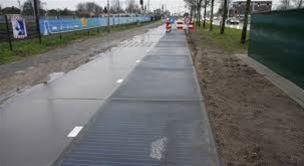 Strassen mit Solarzelle Holland